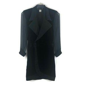 VTG BB Collections 80s sheer sleeve velvet dress